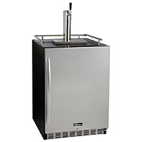 Full Size Digital Undercounter Kegerator with X-CLUSIVE Premium Direct Draw Kit - Right Hinge