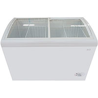 8.6 CF Commercial Glass Top Chest Freezer - White