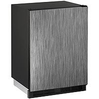 1000 Series Combo Refrigerator & Ice Maker - Black Cabinet with Integrated Door