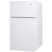 3.0 Cu. Ft. Two Door Compact Refrigerator-Freezer - White