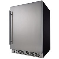 Silhouette Professional 5.5 Cu. Ft. Built-In Refrigerator - Black Cabinet with Stainless Steel Door