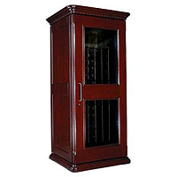 European Country Euro 1400 172-Bottle Wine Cellar - Classic Cherry Finish