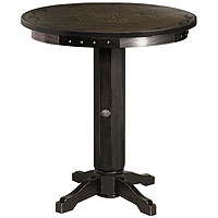 Bar & Shield Flames Pub Table - Vintage Black