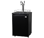 Kegco K309B-3 Triple Faucet Digital Kegerator - Black Matte Cabinet and Door