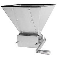Grain Mill with 11lb Hopper and 3 Rollers