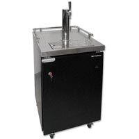 Single Tap Commercial Grade Kegerator - Full Size