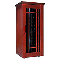 Mission 1400 172-Bottle Wine Cellar - Classic Cherry Finish