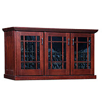Mission Credenza 180-Bottle Wine Cellar - Classic Cherry Finish