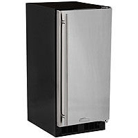 Built-In All Refrigerator - Black Cabinet and Solid Stainless Steel Door w/ Left Hinge