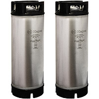 5 Gallon Ball Lock Keg - Rubber Handle - NSF Approved - Set of 2