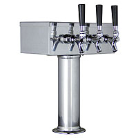 Polished Stainless Steel T-Style 3 Faucet Tower - 3