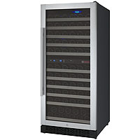 FlexCount Series 121 Bottle Dual Zone Wine Refrigerator with Right Hinge