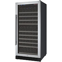 FlexCount Series 128 Bottle Single Zone Wine Refrigerator with Right Hinge