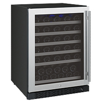 FlexCount Series 56 Bottle Single Zone Wine Storage Unit with Left Hinge