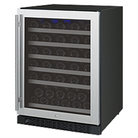 FlexCount Series 56 Bottle Single Zone Wine Refrigerator with Right Hinge