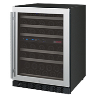 FlexCount Series 56 Bottle Dual Zone Wine Refrigerator with Right Hinge