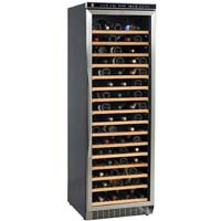 166 Bottle Wine Refrigerator with Stainless Steel Frame Door