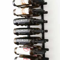 3' Wall Mount 27 Bottle Wine Rack - Satin Black Finish
