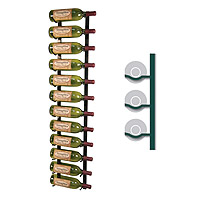 WS41-K - 12 Bottle Vintage View Wine Rack - Black Satin Finish