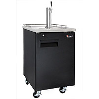 Single Keg Commercial Grade Kegerator - Black