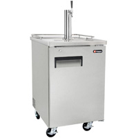 Single Keg Commercial Grade Kegerator - Stainless Steel