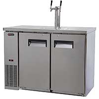 Two Keg Commercial Grade Kegerator - Stainless Steel
