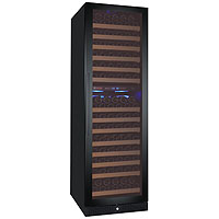 FlexCount Classic Series 172 Bottle Dual Zone Wine Refrigerator - Right Hinge Black Door