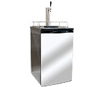 Kegco K199SS-1 Full Size Kegerator with Black Cabinet and Stainless Steel Door