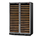 Allavino MWR-2X1681-SS 340 Bottle Dual Zone Wine Cellar -  Side By Side - Black Cabinet with Stainless Door