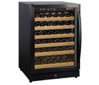 Allavino MWR-541-BL-C 51 Bottle Wine Cooler Refrigerator - Black Cabinet with Black Door and Curved Handle