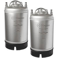 Home Brew Beer Kegs - Ball Lock 3 Gallon Strap Handle - Set of 2