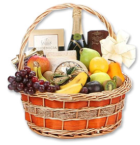 Photo of Champagne Fruit Gourmet Basket