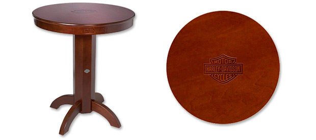 Photo of Harley-Davidson Bar & Shield Wood Pub Table