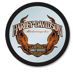 Photo of Harley-Davidson Bar & Shield Flames Mirror