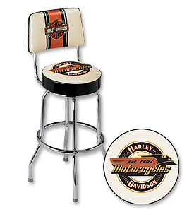 Photo of Retro Harley-Davidson Motorcycles Bar Stool
