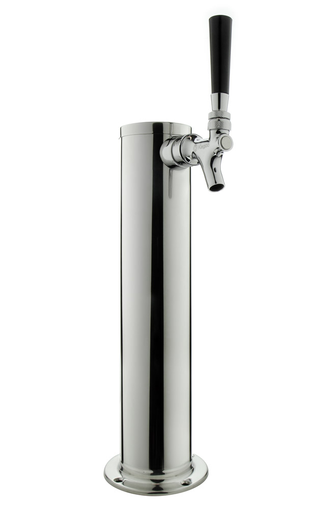 Beer Faucet Draft Single Tower keg Polished Stainless Steel