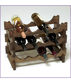 Photo of 36 Bottle Modular Wine Rack - Stained