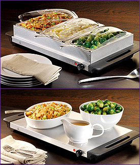 Photo of Nostalgia Electrics BCD-992 3-Section Stainless Steel Buffet & Warming Tray