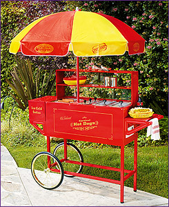 Photo of Nostalgia Electrics HDC-701 Old Fashioned Carnival Hot Dog Cart with Umbrella
