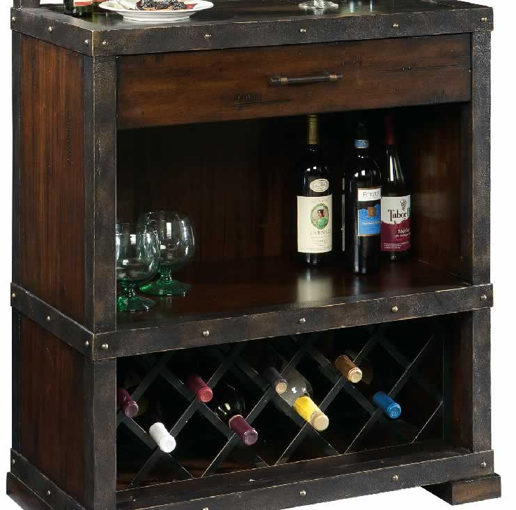 Howard Miller 695-138 Red Mountain Wine & Spirits Cabinet ...