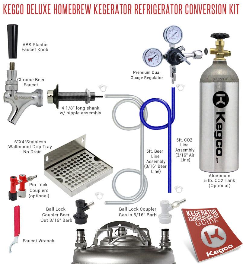 Kegco Deluxe Homebrew Kegerator Conversion Kit   BeverageFactory.com