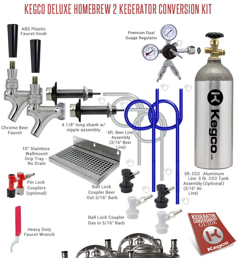 Kegco Deluxe Homebrew 2 Kegerator Conversion Kit   BeverageFactory.com