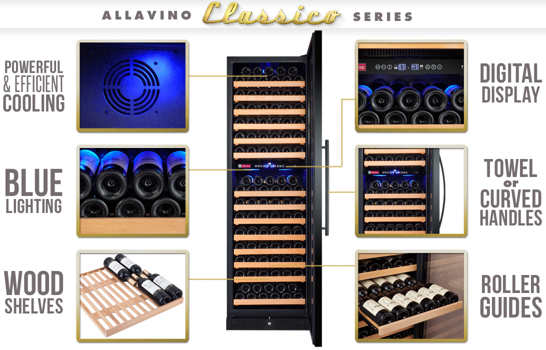 Allavino YHWR172-2BWRT Wine Refrigerator Features