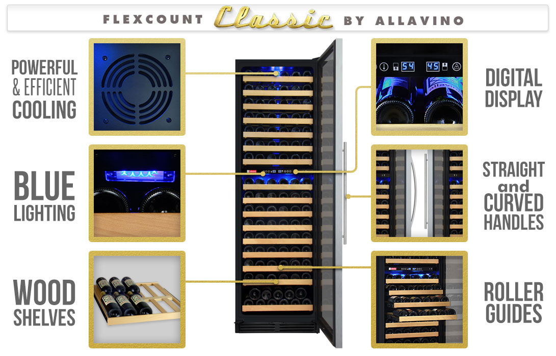 Allavino YHWR172-2SWLN Wine Refrigerator Features