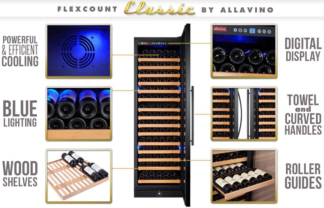 Allavino YHWR174-1BWLN Wine Refrigerator Features