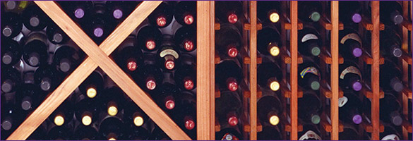 Solid Diamond Cube and Individual Bottle Wine Racks