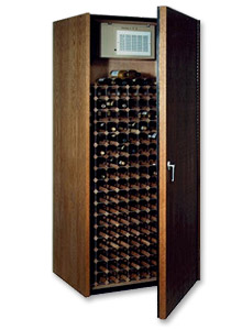 Wine Cellar with Aluminum and Wood Racking
