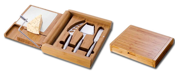 Soiree Bamboo Cutting Board Cheese Set