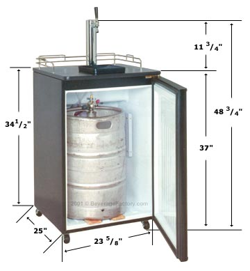 Summit SBC-500B Beer Cooler Open