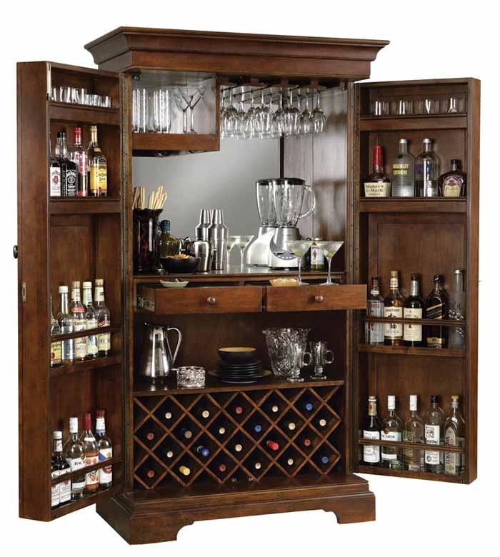 Sonoma Hide A Bar Wine U0026 Spirits Cabinet